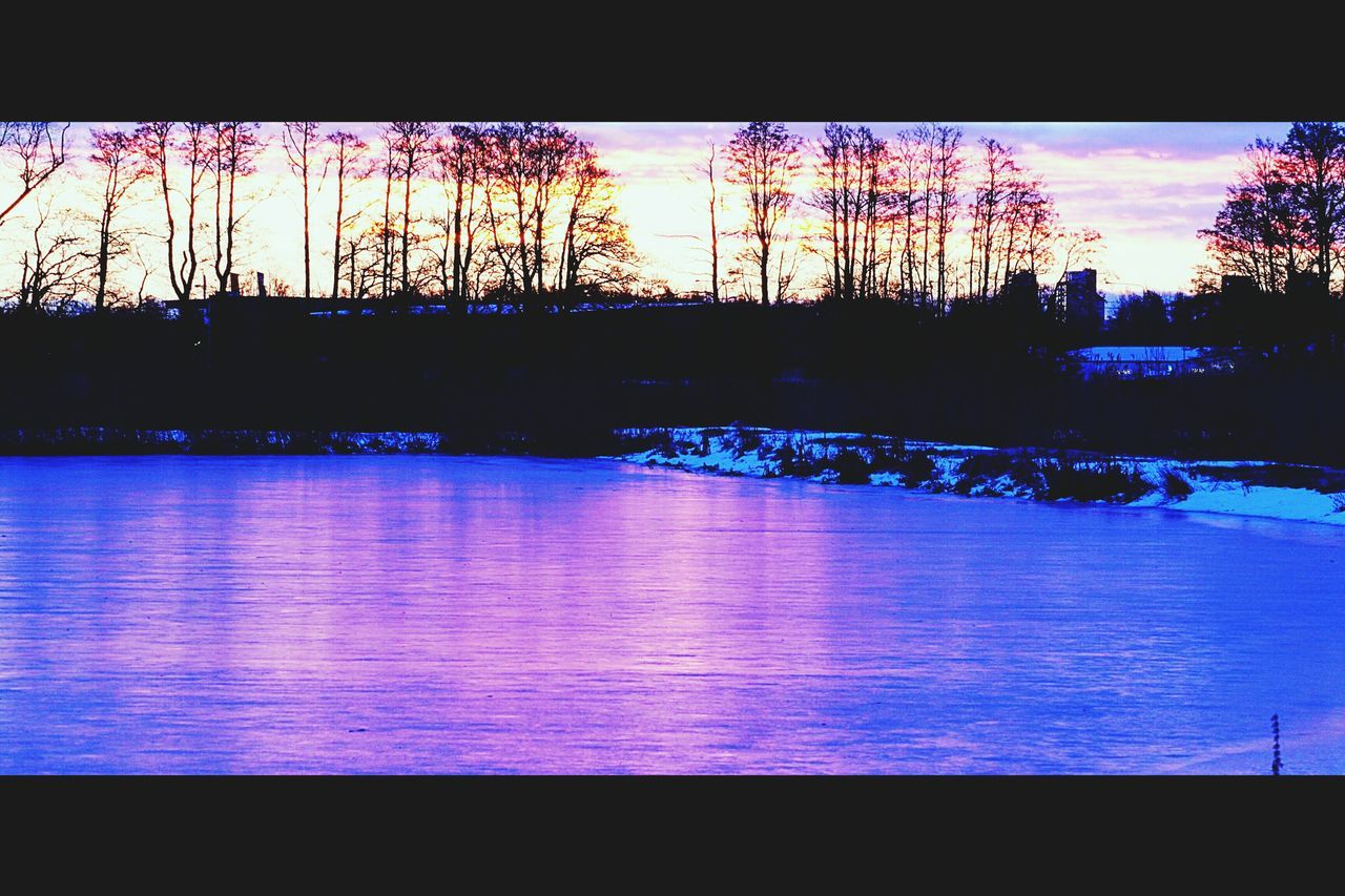 Sunset Reflection Beauty In Nature Water Sky Outdoors Tree Eskilstuna-Landscape Wintertime Cold Temperature