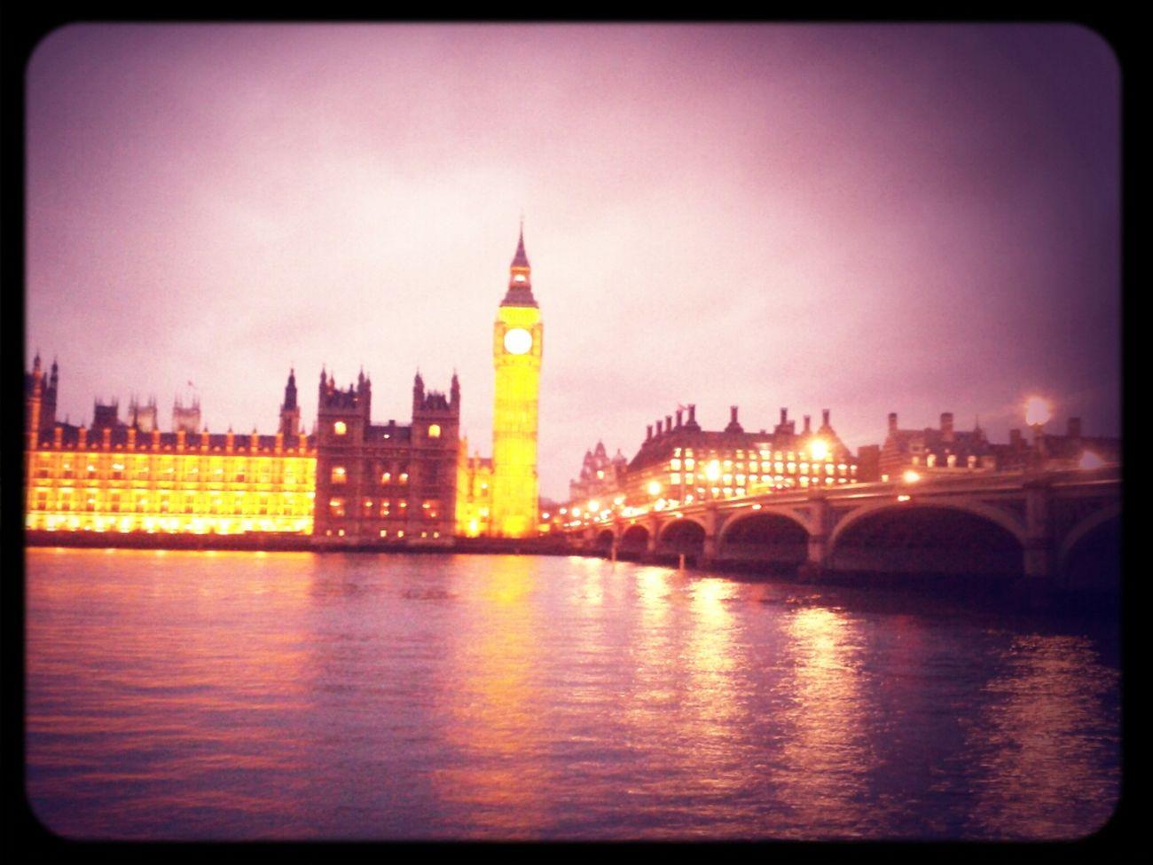Big Ben London At Westminster Bridge