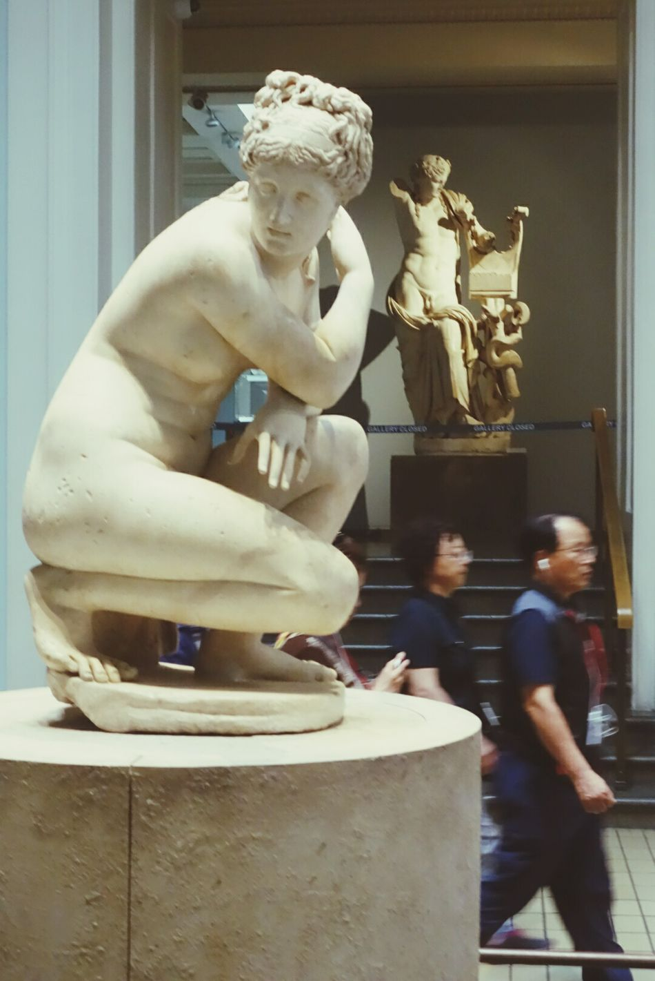 Venus and A God Admiring Nature's Beauty behind and some Who Doesn't Care Less . British Museum LONDON❤ Acient Sculture Greece