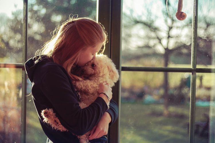 Enjoy The New Normal Red Hair Dog Love Peace Calm Autumn Canon 50mm