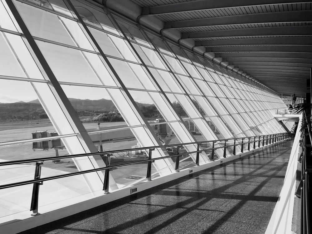 Indoors  Architecture Modern No People Gate Built Structure Bilbao Bilbaoarchitecture Airport Airport Photography Airport Terminal