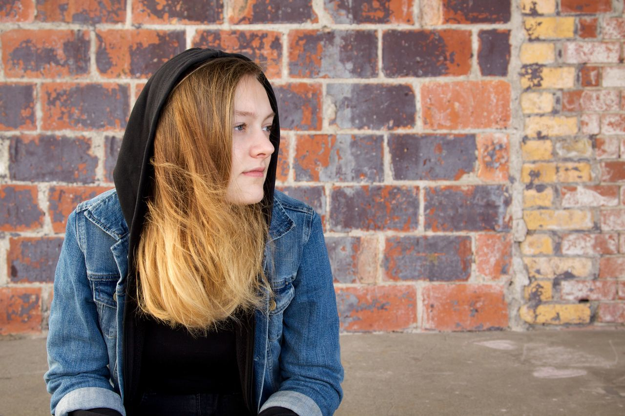Brick Wall City City Life Day Dreaming Girl Power Hanging Out Long Hair One Teenage Girl Only Portrait Portrait Photography Portraits Relaxed Sitting Teenager Teenagers  Urban Lifestyle Young Adult Youth Youth Of Today