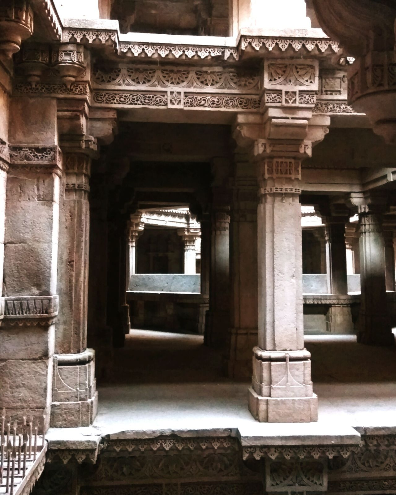 Architecture Built Structure Architectural Column History No People Indoors  Day Step Well