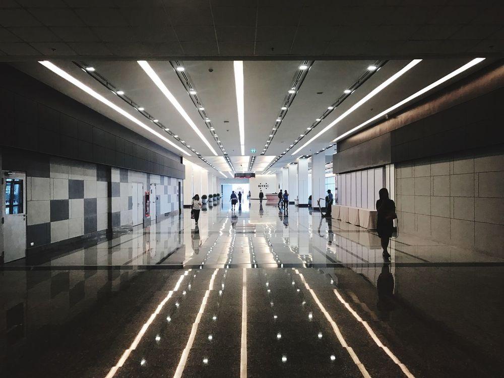 Illuminated Walking Exhibition Hall Walkway Lifestyles Real People Architecture Inspection Thailand ThaiLocal EyeEm Thailand