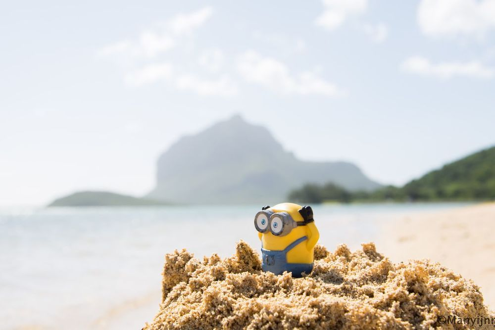 Beach Nature Mountain Beauty In Nature Water Outdoors No People Vacations Nature Eye4photography  EyeEm Best Shots Beauty In Nature Le Morne-Mauritius Minion Love Minionsworld Minions ™ Sand Beach