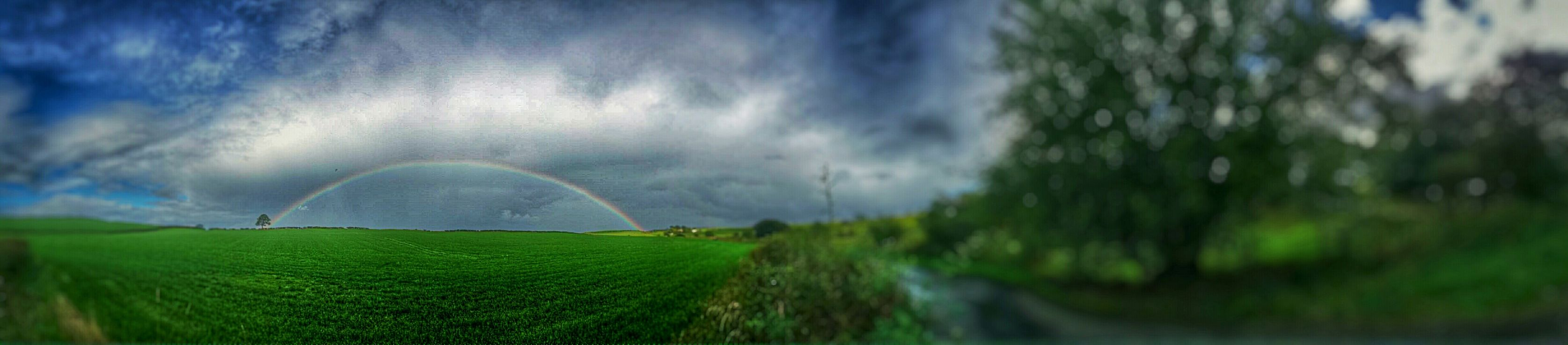 Only a phone panoramic but you get the picture.... Rainbow EyeEm Best Shots Eye4photography  Eyem Gallery EyeEm Gallery Sky_collection Eyeemcolours The Natural World Eyeem_allshots PhonePhotography