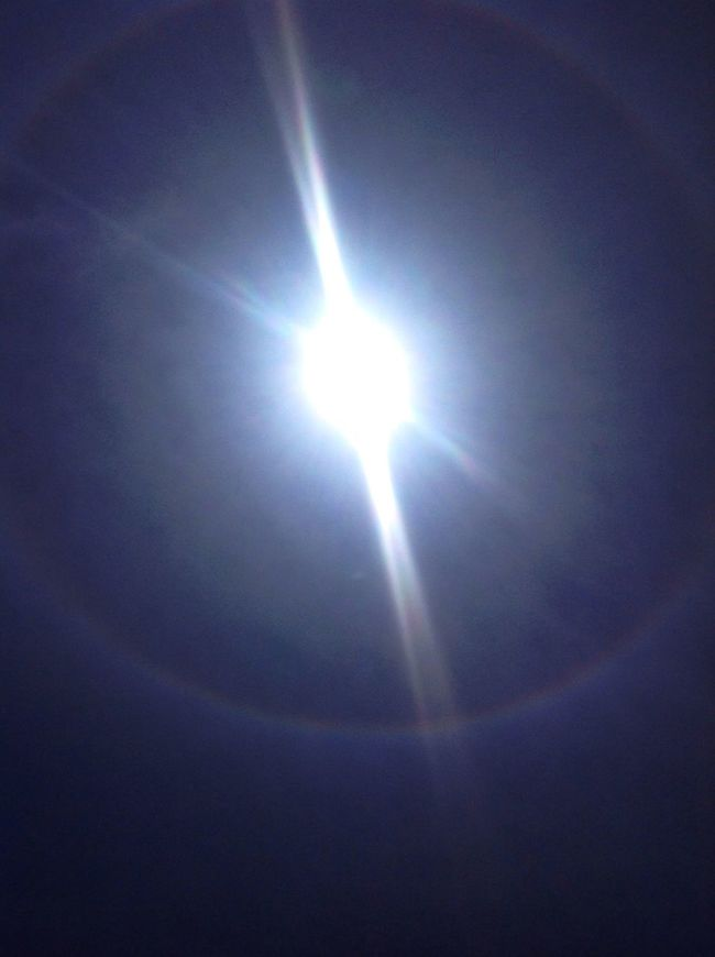 . Can Somebody Help Me ?? What Is This see the circle round the sun like a rainbow??