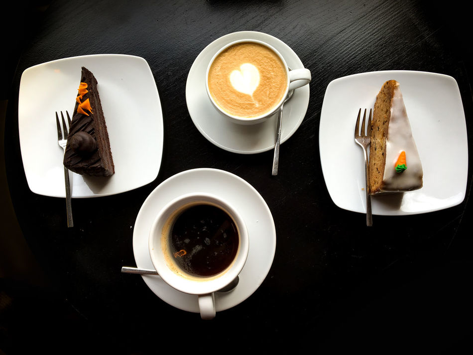 Baked Pastry Item Black Breakfast Coffee - Drink Coffee Cup Cookies Couple Cup Day Drink Food Food And Drink Freshness Frothy Drink Indoors  Latte No People Plate Ready-to-eat Refreshment Sweet Food Sweet Pie Sweets Table Wood