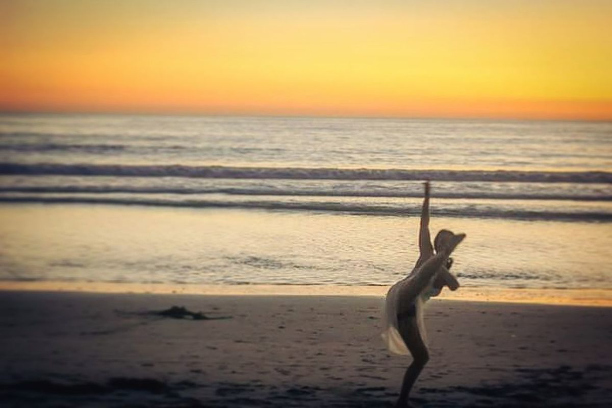 Miss my Eden California Coast Taking Photos Dancer Dansa Dans Dancing Ocean Breathing Fresh Air Breathtaking View Sunset Kalifornien Encinitas AndLove