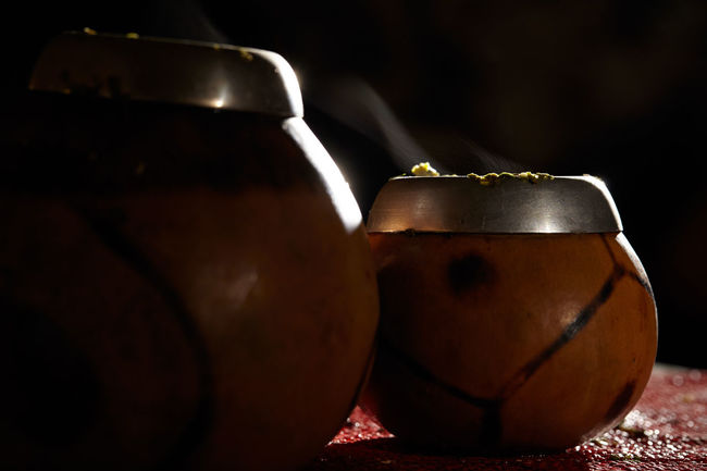 Beverage Boiling Boiling Water Bombilla Bombillas Brew Calabash Ceremony Exotic Folklore Healthy Low Key Mate Smoke Table Tea Two Yerba