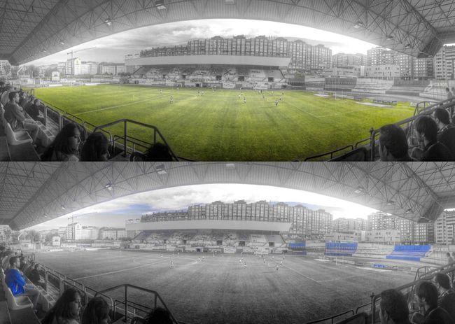 Futbol Real Avilés Estadio Suarez Puerta Monocolor