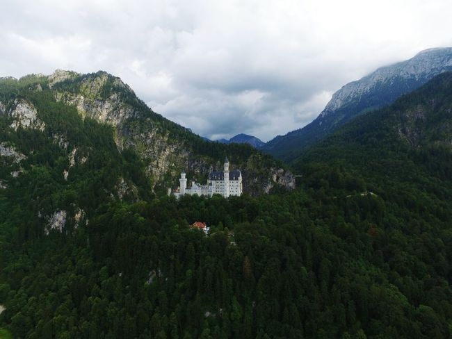 Dronephotography Droneshot Dji Phantom Neuschwanstein Hanging Out Taking Photos Check This Out That's Me Cheese! Enjoying Life Remote City Outdoors Cloudy Nature Füssen, Bayern, Deutschland Füssen Drone Moments Taking Photos First Eyeem Photo Beauty In Nature No People House Drone