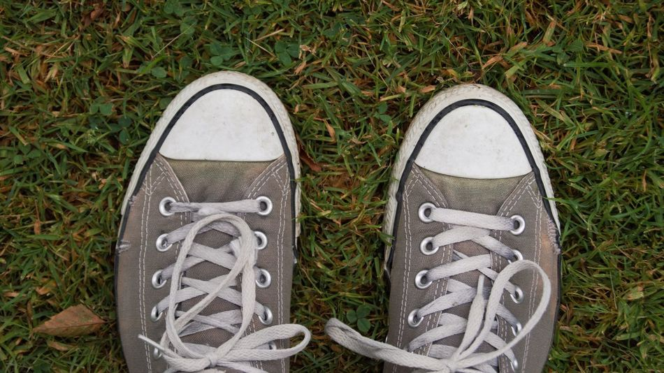 Beautiful stock photos of leinwand, Canvas Shoe, Day, Directly Above, Field