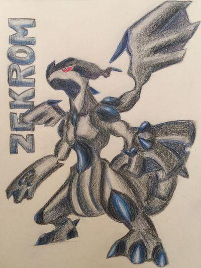 ポケモン Pokémon MyDrawing Illustration Zekrom 出来た!疲れた!きついwww