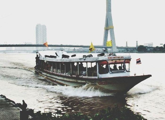 Chao Phraya River Harbour Bangkok Thailand