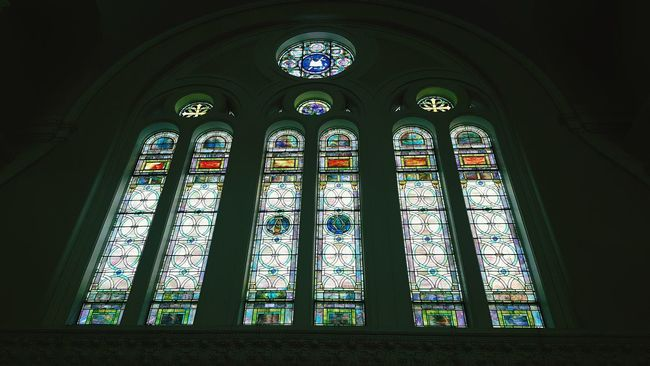 Tranquil Scene Historic Building No People New York City Stained Glass Stained Glass Window Church Architecture_collection