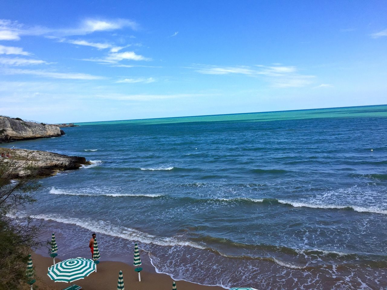 My Year My View Sea Sky Water Horizon Over Water Scenics Beauty In Nature Nature Tranquility Outdoors Day No People Cloud - Sky Beach Sea And Sky Blue Color Rock Formation Seaside Seascape Waterfront Wave Spash Splashing Waves Wave And Sky Splashing Water Water And Sky
