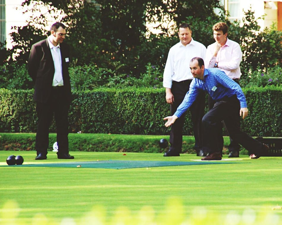 Lawn Bowling bocce ball Men friends Sport Competition Green