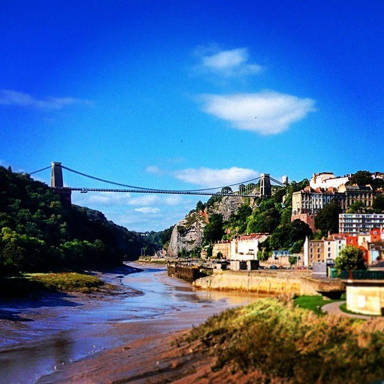 Bristol City England Clifton suspension bridge avon river blue sky sunny cloud wheather nature nature_photo perfect view panorama beautiful urban stylish architecture magnificent