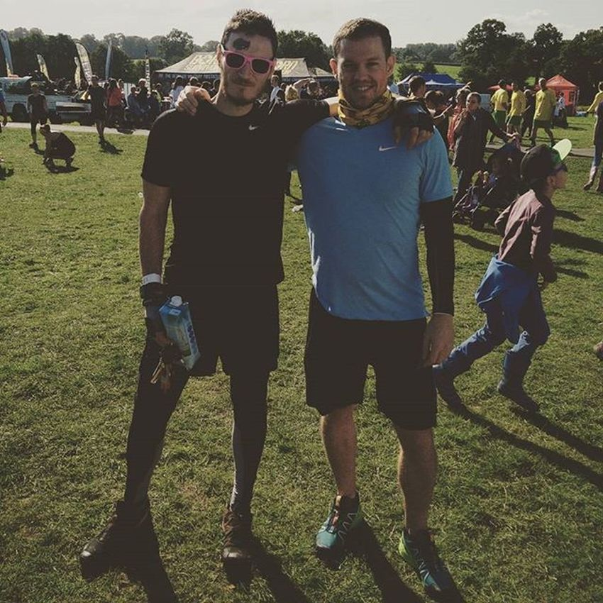 Me and Reeny at Born Survivor 😀 more of a fun run this time but plenty of interesting and challenging obstacles to overcome! Managed to keep the sunglasses on the whole way round too!! Bornsurvivor Ocr Obstaclecourseracing Obstaclecourse Mudrun Muddyrace MudFun Fitness Bromance Bs5
