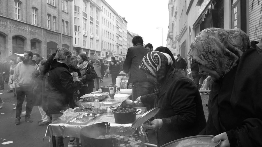 MyFest 2017 Adult Strassenfilm Berlin Photography Black And White City City Life Crowd Day Food Large Group Of People Lifestyles Men MyFest Occupation Outdoors People People And Places Real People Sale Selling Street Street Photography Urban Women The Street Photographer - 2017 EyeEm Awards