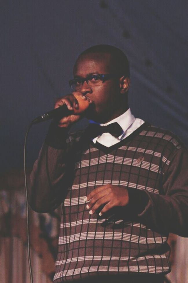Beatboxing days Trinidad And Tobago Beatboxing Beatbox Dressed Up Ebony Sweater Tie Glasses Melanin African King Eyeem Market Eyeemphotography EyeEm Gallery