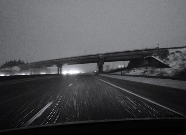 falling snow Snow Winter Bridge - Man Made Structure Transportation Connection Highway Road The Way Forward Built Structure Car Interior Mode Of Transport Land Vehicle Travel Car No People Day Outdoors