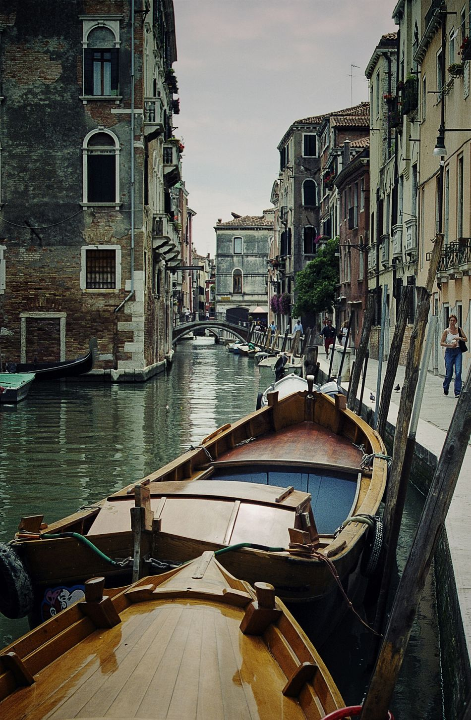Back streets of Venice.Canal Reflection Gondola - Traditional Boat Nautical Vessel Travel Destinations Water Venice Venice Canals Italy Film 35mm Film Film Is Not Dead Film Photography