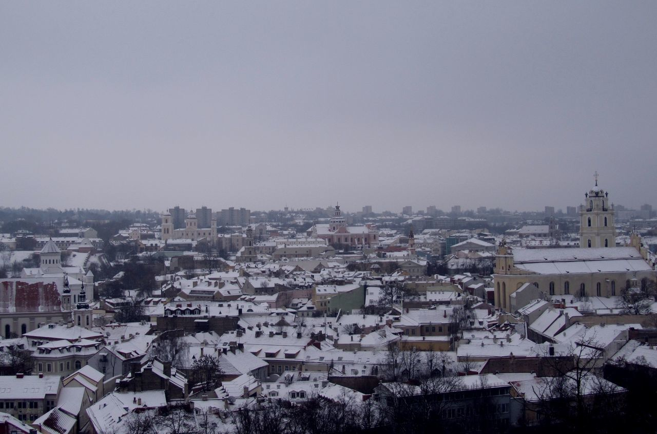 Beautiful View Beauty In Architecture City Views Roofs Town Roofs Vilnius Old Town Winter A Bird's Eye View Beautifully Organized