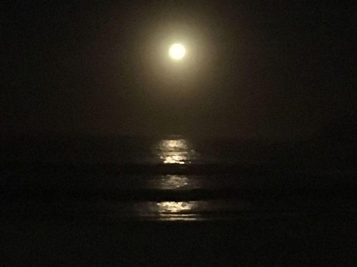 Manly Moon. Night Photography Moon At Sea Side Moon Shots Moon Reflection Sydney, Australia
