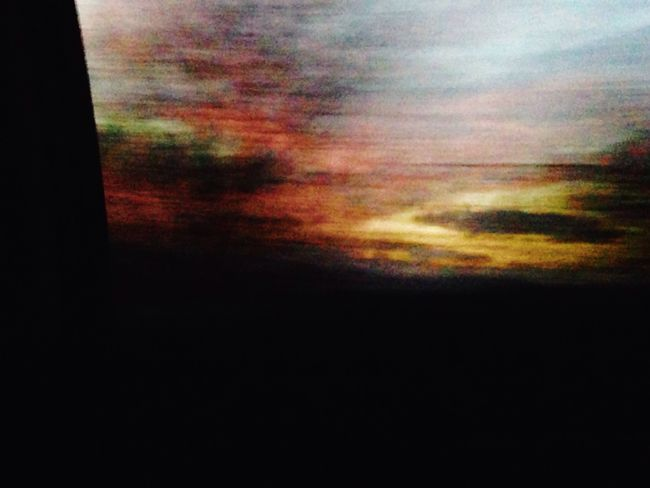 Sunset colors in a moving car. Sunset Motion Motion Blur Taking Photos