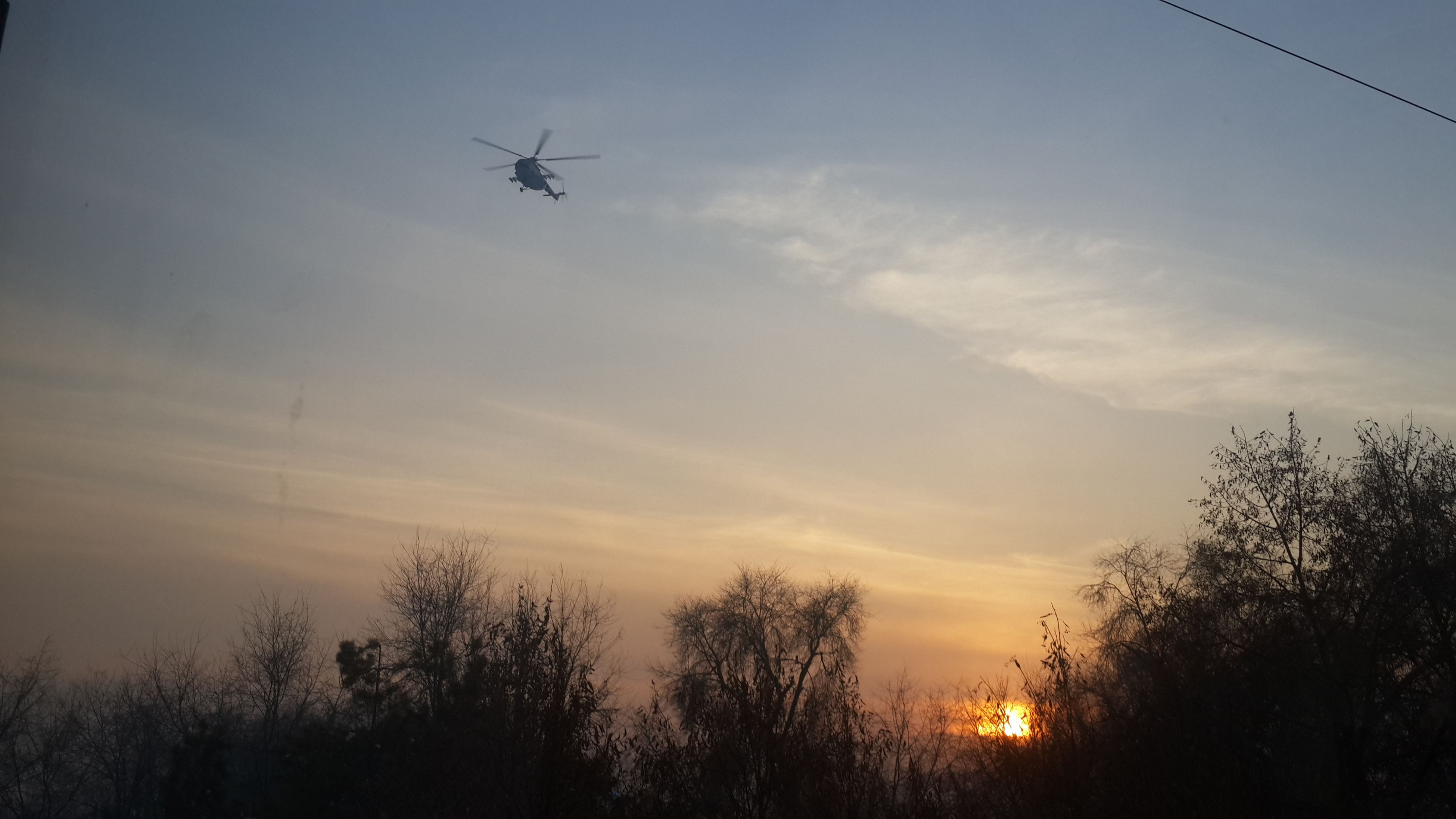 flying, silhouette, sunset, sky, airplane, transportation, tree, air vehicle, mid-air, mode of transport, low angle view, scenics, nature, beauty in nature, tranquil scene, tranquility, cloud - sky, dusk, orange color, outdoors
