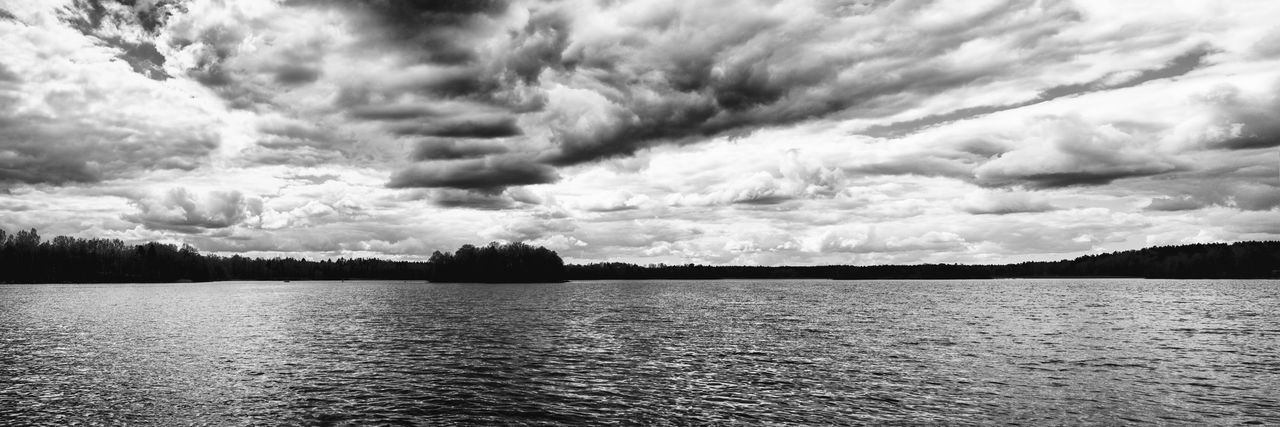 Cloud - Sky Tranquility Beauty In Nature Sky Scenics Nature Tranquil Scene No People Lake Outdoors Water Storm Cloud Day Tree The Great Outdoors - 2017 EyeEm Awards Exceptional Photographs Blackandwhite Black And White Black & White Lakeside Lake View Lakeshore Dramatic Sky EyeEm Masterclass Hello World Neighborhood Map Neighborhood Map
