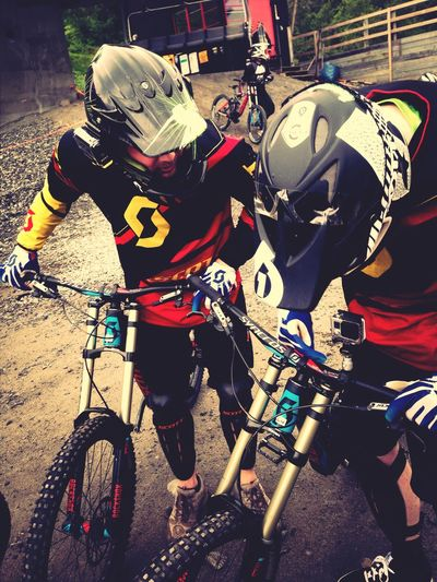 Let's do this downhill trip again ... Maybe without broken ribs, concussion and a bad back for months. Extream Downhill Downhill/ Freeride Are  Adrenaline Check This Out Sports Biking Adventure Buddies