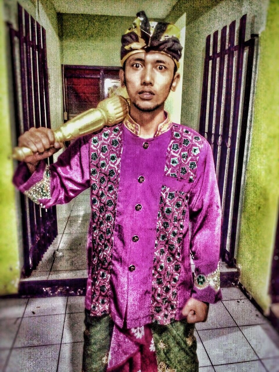 Belambangan's Knight: Menak Jinggo Looking At Camera One Person Cultures Travel Destinations Banyuwangi Culture Of Indonesia Women Growth One Young Woman Only Only Men People Day Udeng