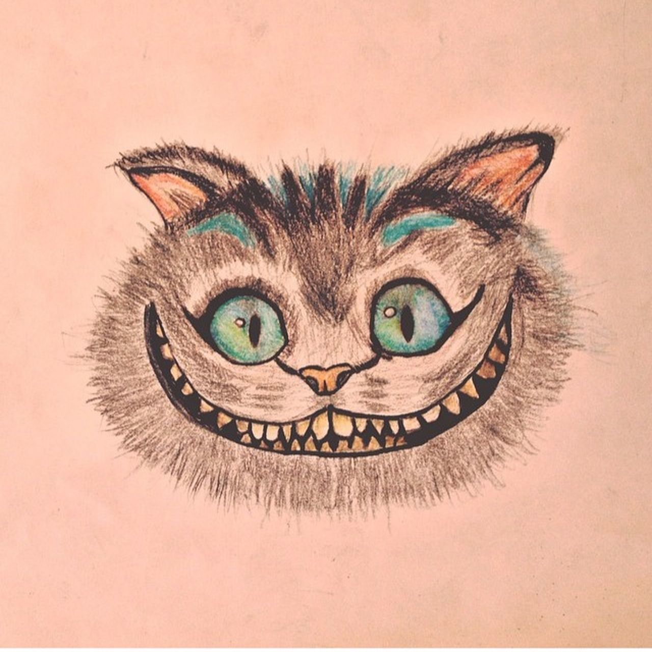 Drawing Taking Photos Hello World Hi! Cheshire Alice In Wonderland Beautiful Instagood Draw Instagram