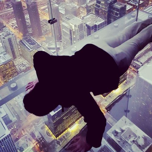 Chicago Downtown Chicago Skydeck Skydeck At Willis Tower Skydeckchicago Skydeckledge Pushups Suicide Awareness Push 22 22 Pushups 22 Kill Winter Snow For The Veterans Suicide Prevention Exercise Stay Alive Stay Strong