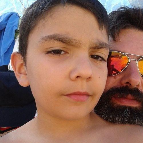 ;) Selfie Kids Love Simão beatch algarve portugal