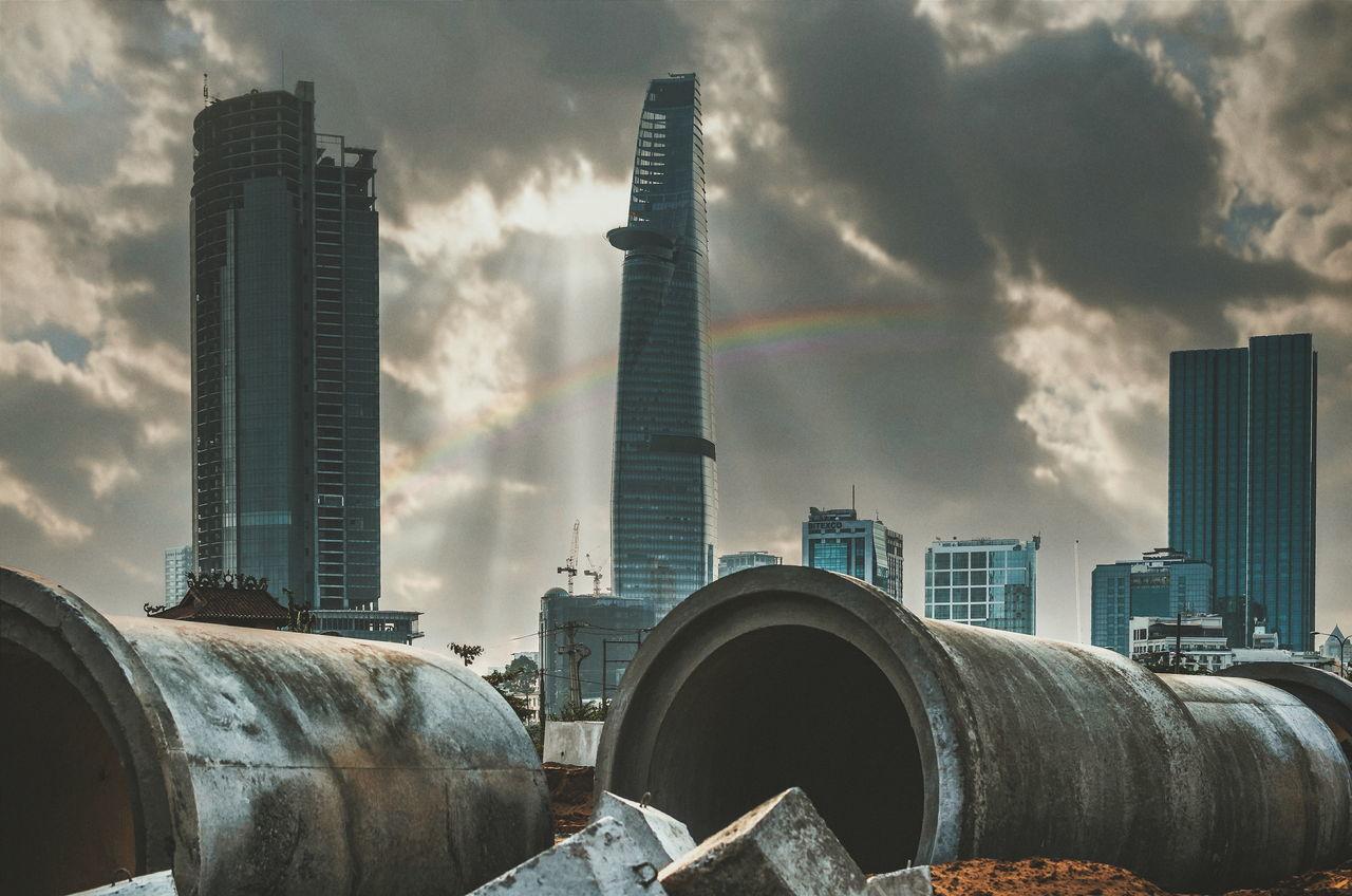 Sài Gòn sau cơn mưa..! Saigon Bitexco Bitexcofinancialtower Rainbow Nikon D7000 Nikkor35mm18g Nikkor35mm Photoshop VSCO Lightroom The Architect - 2016 EyeEm Awards