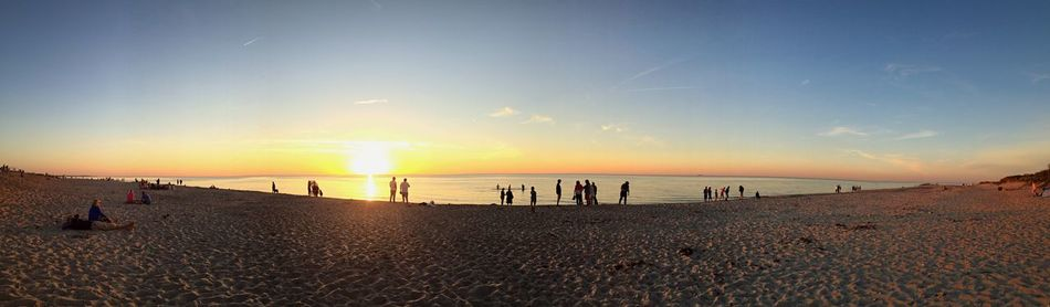 Sunset set_collection] Beach Sea Silhouette Family Summer Denmark EyeEm Best Shots EyeEm Nature Lover People And Places