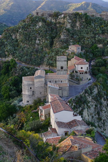 High Angle View Architecture Building Exterior House No People Day Town Rural Scene Landscape Mountain Nature Tourism Destination Tourism Savoca Savoca, Sicily Sicily ❤️❤️❤️ Sicily, Italy Corleone Goodfather Francis Ford Coppola