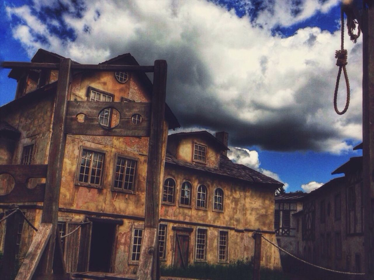 Sky Architecture Building Exterior Built Structure Cloud - Sky Abandoned Window No People Outdoors Day Low Angle View