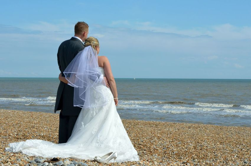 Wedding Beach Wedding Looking Into The Future Married Enjoying Life Wedding Day Wedding Dress Weddings