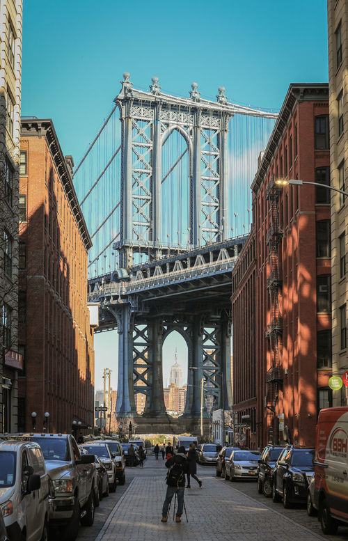 City Architecture Travel Destinations DUMBO, Brooklyn DUMBO Brooklyn New York NYCImpressions Nycphotography NYC Photography NYC Metropole Architecture City Manhattan Bridge/New York Manhattan Bridge Bridge Bridge Photography Bridge Pillar Steel Bridge