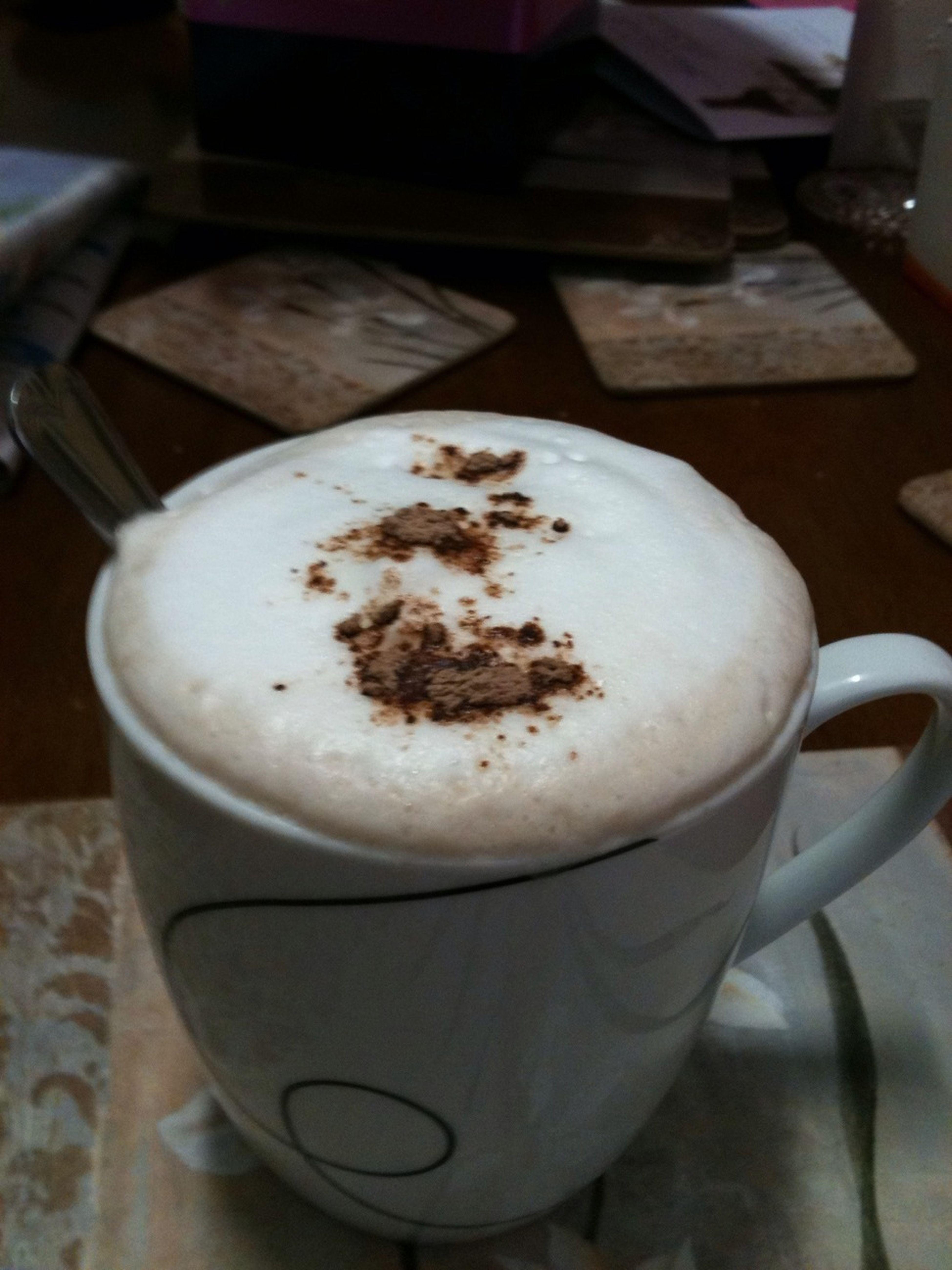 Driking Hot Chocolate