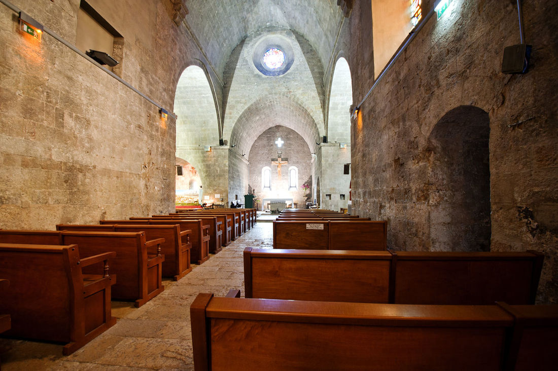 Abbey Ancient Civilization Arch Architectural Feature Architecture Archway Ceiling Church Column Historic History Indoors  Interior Narrow Old Ornate Place Of Worship Religion Religions Religious  Religious Architecture Valbonne Valbonne Abbey