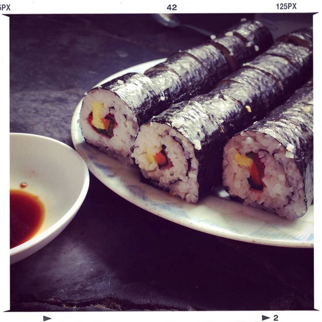 My homemade sushiroll Check This Out Cheese! Enjoying Life today afternoon