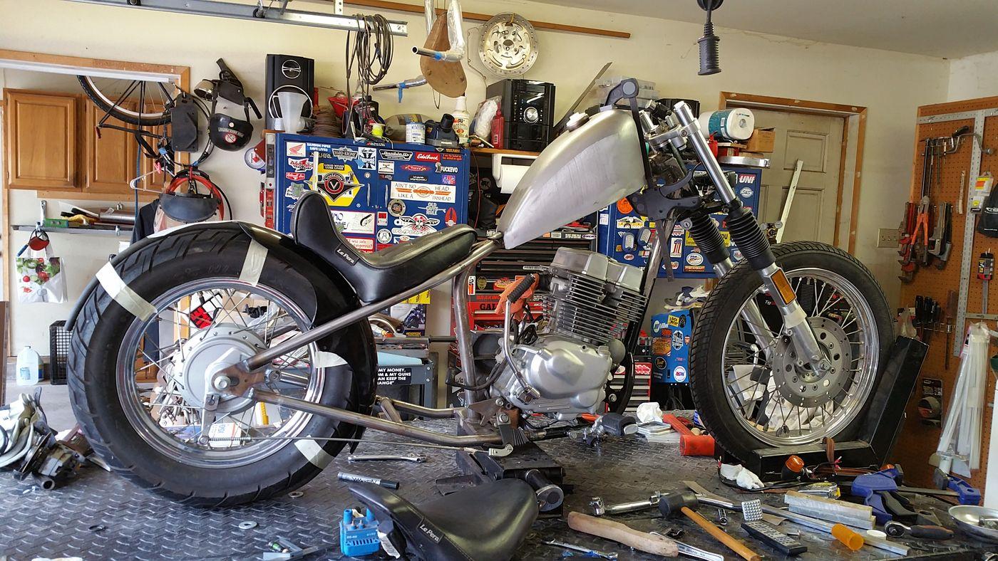 Frame Fabrication Hardtail Motorcycle Custom NEM Architecture Industrial