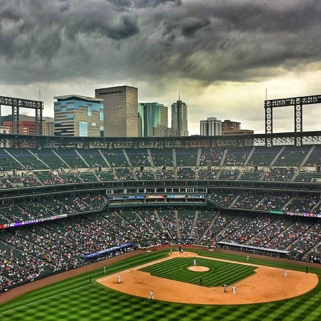 Coors Field Rooftop View Bigfizzion Coors Coloradorockies Rooftop baseball spring americapasttime
