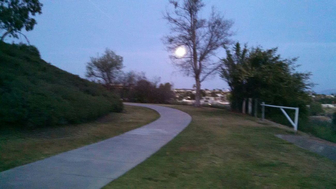 Moon over Murrieta Hot Springs Walking Around